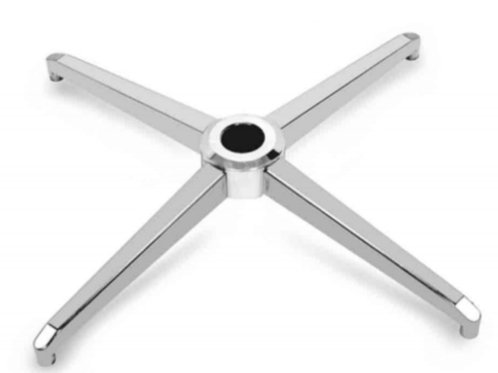 Sleek 4 leg crome base