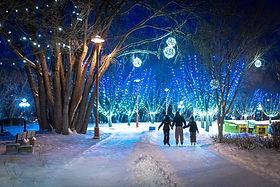 light festival assiniboine park audio walking tour
