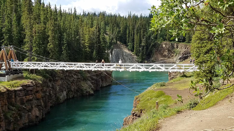 suspension bridge audio walking tour