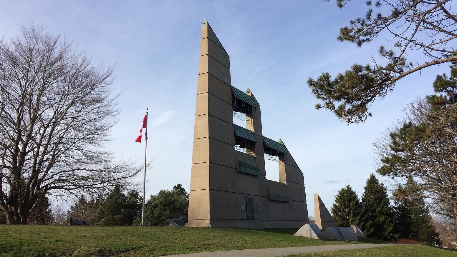 memorial bell tower Halifax audio walking tour