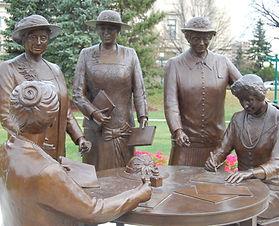 Famous Five Monument Winnipeg Legislative Grounds audio walking tour