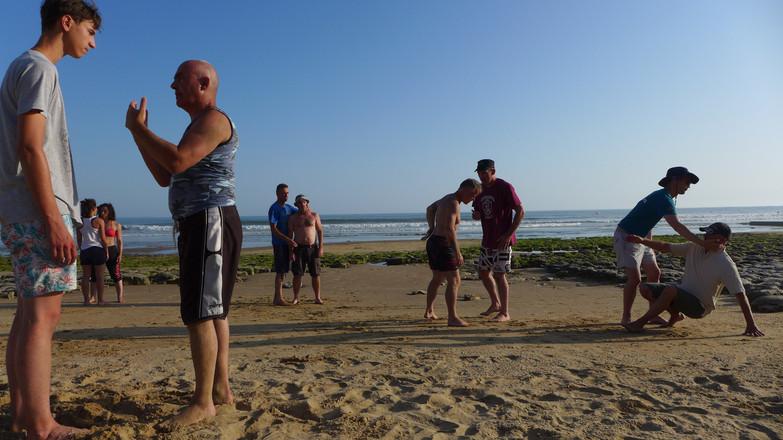 Lutte et mobilité sur la plage