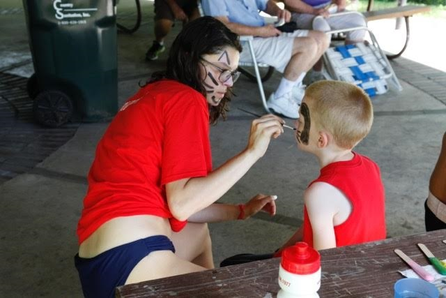 17. face painting