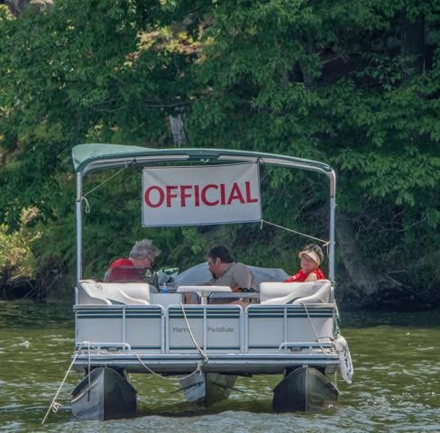 8.one of 2 official pontoon boats