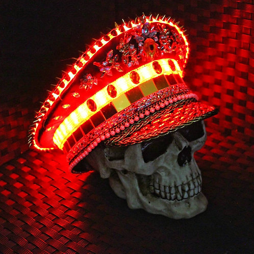 LEDDO2 Festival Captain Hat - [LED Lights] [ALL Sizes]