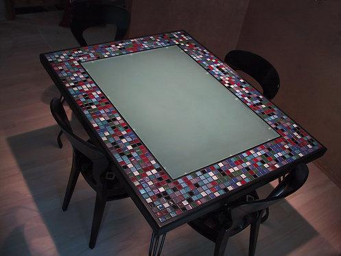 Custom mosaic around dining table