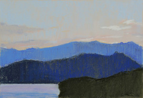 85-2. The evening on Baikal 19x28 cm, 2020