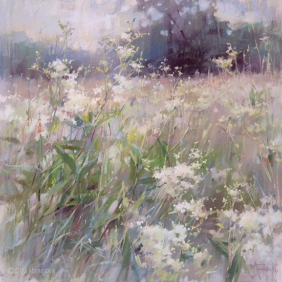 Летние поляны. Астильба / Summer glades. Astilba 70x70cm 2021