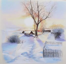 013 Краски зимнего утра / Winter Morning Colors 30х30 cm, 2021