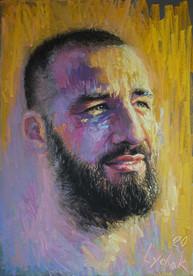 215. Portrait of Serghey 100x70 cm, 2020