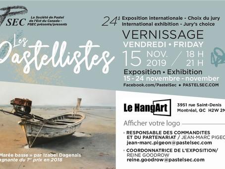 Выставка в Монреале Les Pastellistes 2019