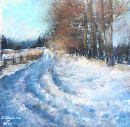 060 The road to spring 25X27 cm, 2020