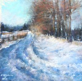 060 Дорога в весну / the road to spring 25X27 cm, 2020