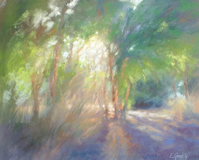 92-2. Eucalyptus Grove in green 40x50 cm, 2020