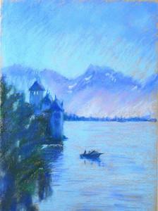 16. Легенда озера / Legend of the lake 38x28 cm, 2020
