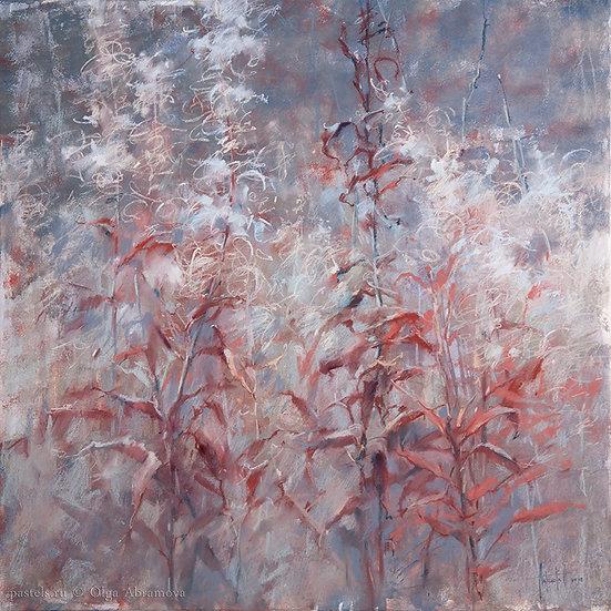 Красный Иван-чай Red Blooming Sally 70x70. 2018