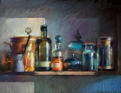 169. На кухонной полке / On the kitchen shelf 50x60 cm, 2019