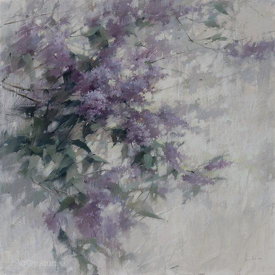 Сирень / Lilac 100x100. 2021