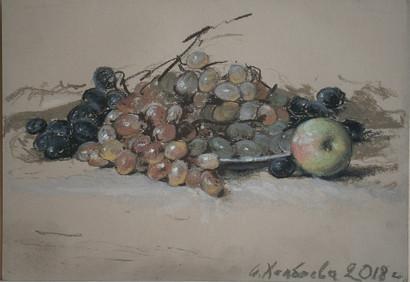 165. Виноград / Grapes 21x30 cm, 2018