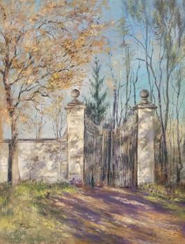 056 Старые ворота. Закрыто. / Old gate. Closed. 50x40 cm, 2020