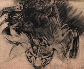 029 Ночной кошмар / nightmare 37.7х45.4 cm, 2020