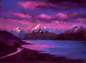 58-2. Sunset over Aoraki. Aoraki National Park / Aoraki sunset 30x40x cm, 2020