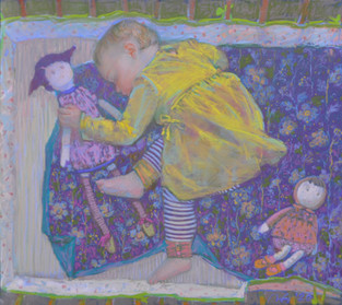 196. Агния спит / Sleeping Agnia 35x39 cm, 2020