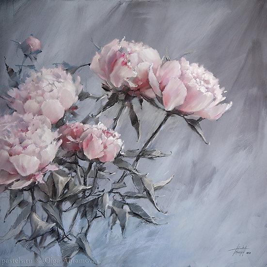 Хрустальный розовый / Crystal Pink 70x70. 2018