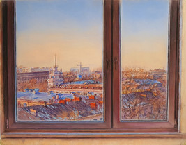 080 Алматы из окна / Almaty from the window 27x34 cm, 2020