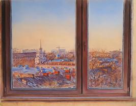 080 Almaty from the window / Almaty from the window 27x34 cm, 2020