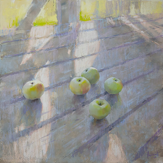 Старая дача. Яблоки Old house. The apples 70x70. 2019