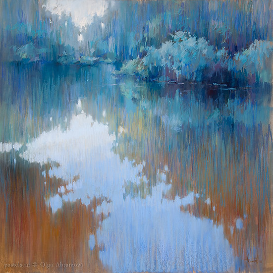 Торфяной пруд Peat pond 100x100. 2018