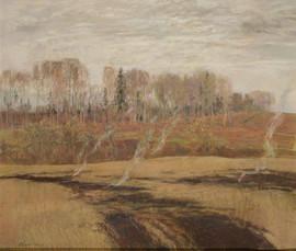 брагинский Грустный апрель. пастель 2006