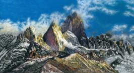 022 Горы / The mountains 45х24.5 cm, 2021