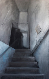59. Black staircase / Black staircase 65x40 cm, 2019