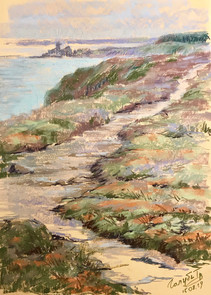 116. Дорожка вдоль моря / Path along the sea 50x36 cm, 2019