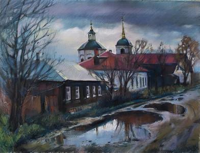187. Ноябрь в Ельце / November of Elets 62x45 cm, 2019