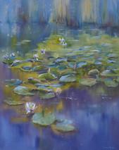 142. Водные нимфы / Water nymphs 49x38.5 cm, 2020