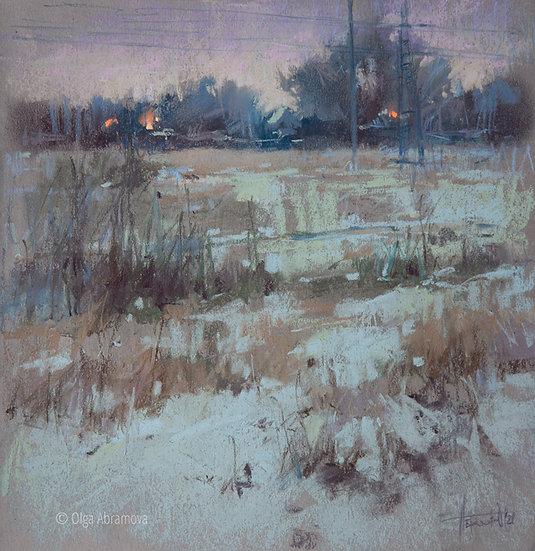 2020 Вид 3. Зимние сумерки / 2020 View 3. Winter twilight 30x30. 2121