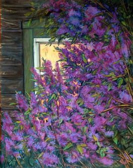 024 Lilac by the window / Siren y okna 100х78 cm, 2020