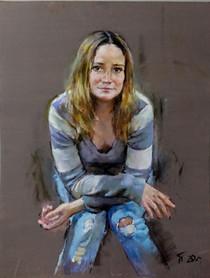 109. Woman's portrait 90x70 cm, 2020