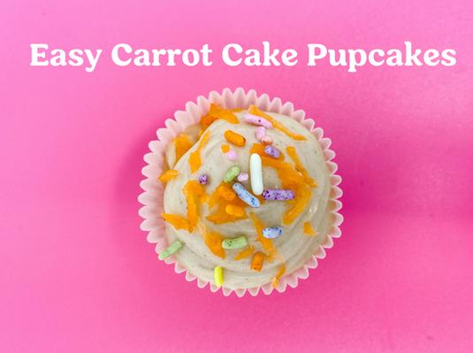 Easy Carrot Cake Pupcakes Recipe