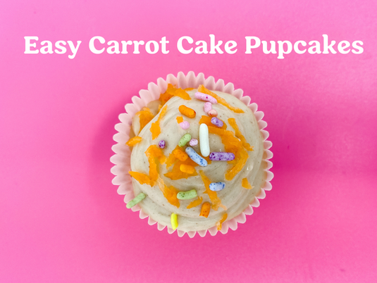 Easy Carrot Cake Pupcakes Recipe