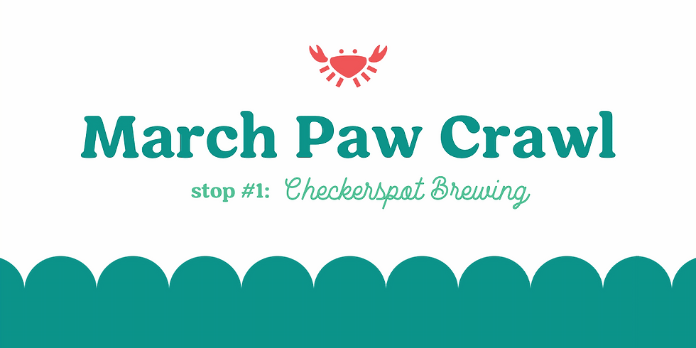 March Paw Crawl Stop #1: Checkerspot Brewing