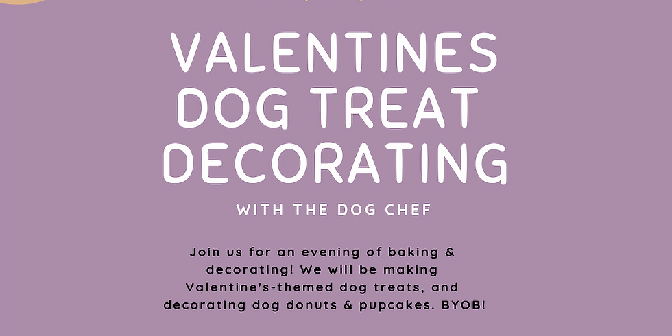 Valentine's Dog Treat Decorating