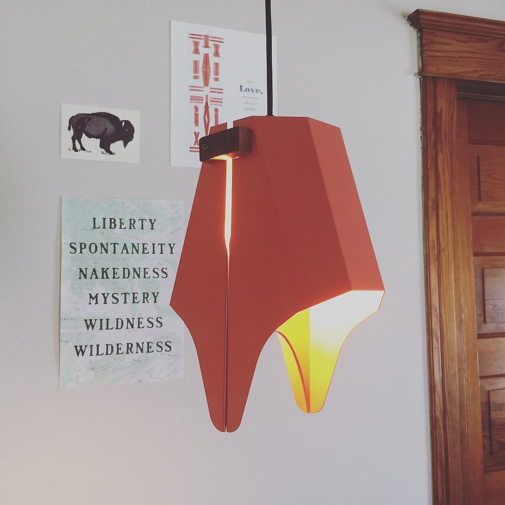 Modern LED pendant light by designer JD Stuart