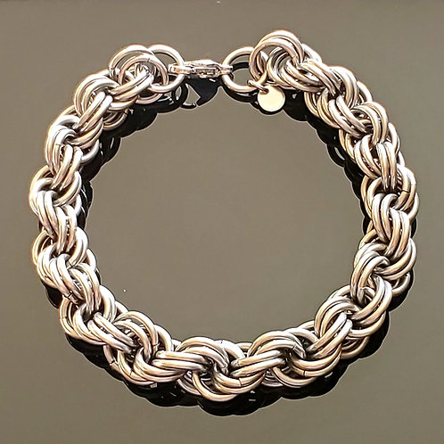 Thick Double Spiral Bracelet