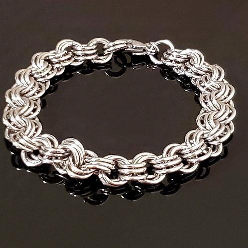 Triple Weave Stainless Steel Bracelet