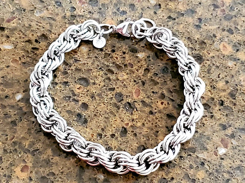 Stainless Steel Double Spiral Bracelet
