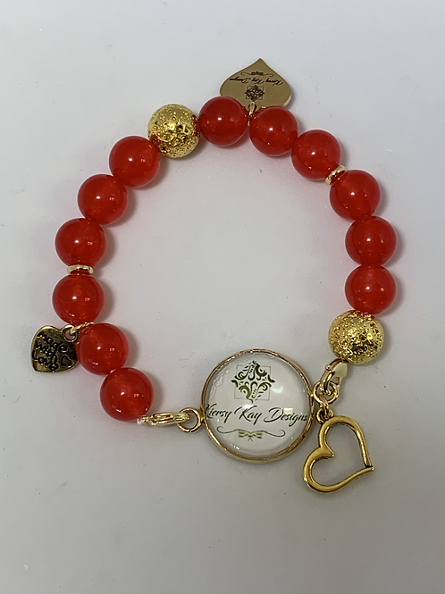 Red Photo Bracelet